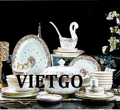Cơ hội giao thương – Đơn hàng thường xuyên – Cơ hội xuất khẩu Bộ đồ ăn Bát đĩa sứ xương của Việt Nam sang thị trường Mỹ