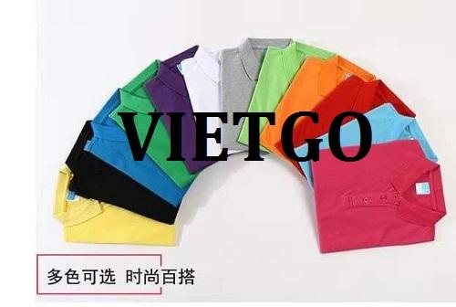 Cơ hội giao thương – Đơn hàng thường xuyên - Cơ hội cung cấp nửa triệu sản phẩm áo Polo Shirt đến thị trường Ý