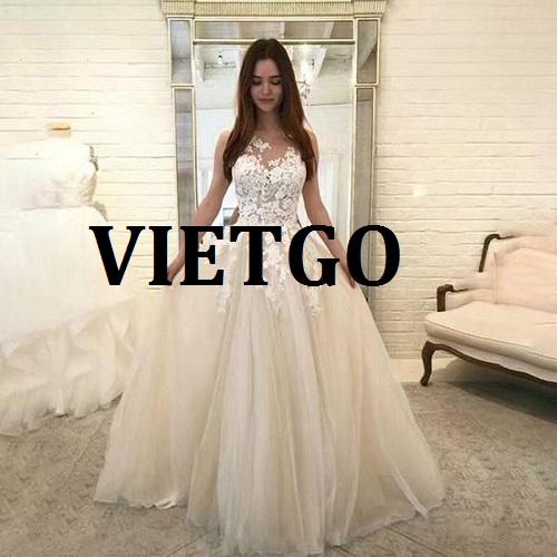 Cơ hội giao thương - Cơ hội cung cấp mặt hàng váy cưới may sẵn tới thị trường Malaysia