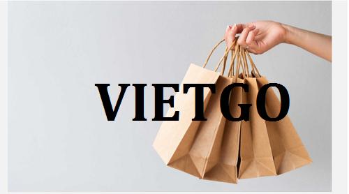 Cơ hội giao thương – Đơn hàng hàng tháng - Cơ hội xuất khẩu Túi giấy sang thị trường Ấn Độ.