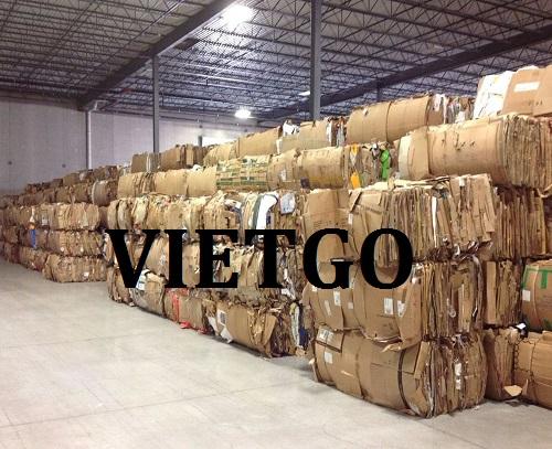 (Gấp) Cơ hội giao thương – Đơn hàng thường xuyên - Cơ hội xuất khẩu Giấy phế liệu OCC sang thị trường Pakistan và Dubai.