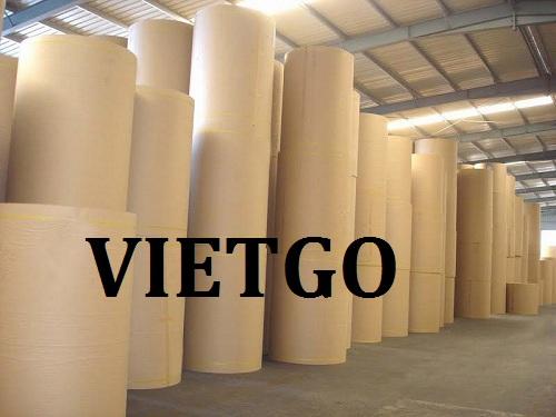 Cơ hội giao thương Đặc biệt – Đơn hàng thường xuyên - Cơ hội xuất khẩu Cuộn giấy Kraff sang thị trường Canada.