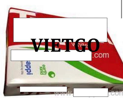 Cơ hội giao thương – Đơn hàng thường xuyên - Cơ hội xuất khẩu 10 – 15 container Giấy A4 sang thị trường Senagal.