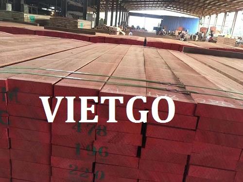 Cơ hội giao thương – Đơn hàng thường xuyên - Cơ hội xuất khẩu 200m3 Gỗ hương đỏ xẻ mỗi tháng sang thị trường Bangladesh.