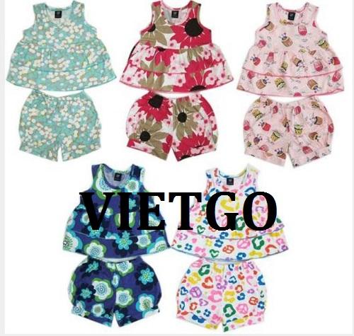 Cơ hội giao thương – Đơn hàng xuất khẩu quần áo trẻ em sang thị trường Malaysia