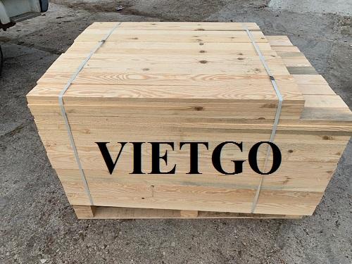 Cơ hội xuất khẩu 20 container 20ft gỗ thông mỗi tháng làm pallet sang thị trường Thụy Điển và Israel.