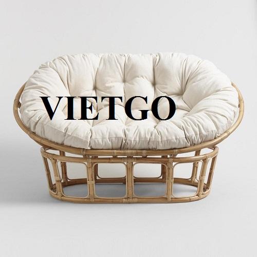 Cơ hội cung cấp 350 container 40HC mỗi năm các sản phẩm nội thất mây tre cho một vị khách hàng Ấn Độ đã từng nhập khẩu nhiều lần từ Việt Nam