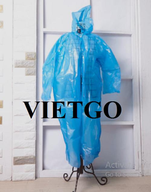 Cơ hội xuất khẩu sản phẩm áo mưa cho một tập đoàn nổi tiếng tại Hàn Quốc