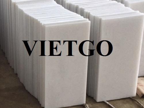 Nhà nhập khẩu người Iraq cần nhập mỗi tháng từ 10 đến 20 container đá marble trắng
