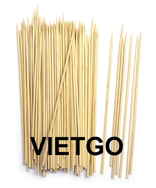Opportunity to export 4 containers of bamboo skewers per month to an Indian trader