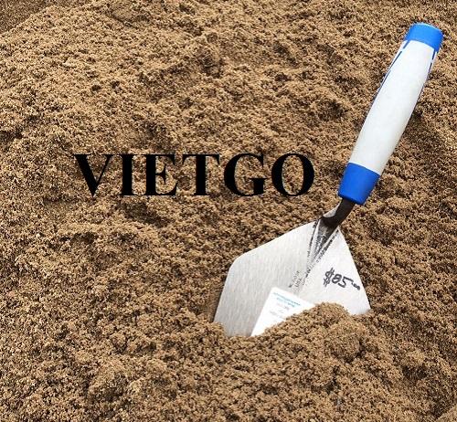 Cơ hội cung cấp cát sông cho một công ty xây dựng tại Ấn Độ