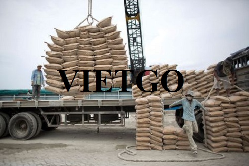Opportunity to export 100,000 bags of cement to the Philippines market