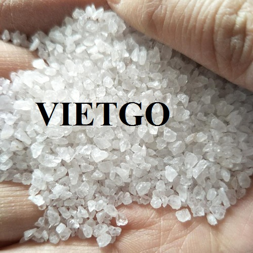 Opportunity to export 15,000 tons of Silica sand per month to the Chinese market.
