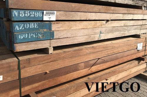 Cơ hội xuất khẩu 2 container 40ft mỗi tháng gỗ Azobe xẻ sang thị trường Bangladesh