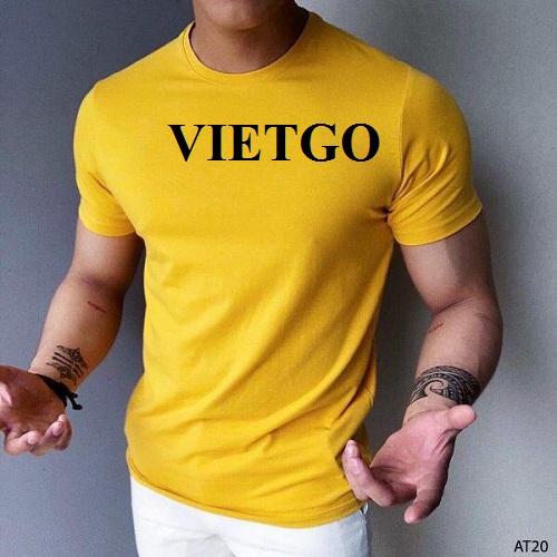 Cơ hội cung cấp số lượng lớn mặt hàng áo T-Shirt cho một doanh nghiệp tại Hy Lạp