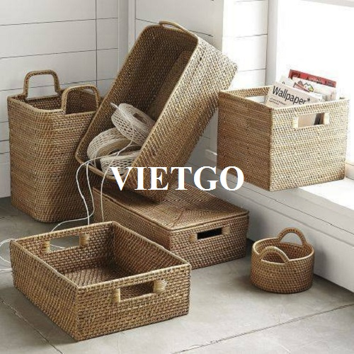 Opportunity to export rattan baskets for a trading company in Indonesia