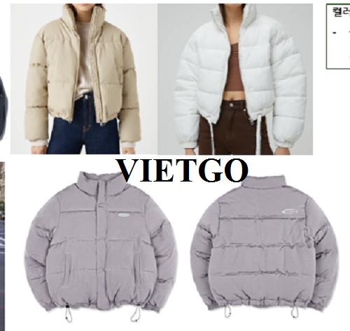 Cơ hội cung cấp sản phẩm áo Jacket cho vị khách VIP của VIETGO sang thị trường Hàn Quốc