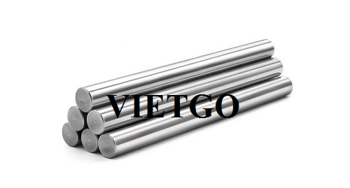 Opportunity to supply 1,500 tons of round bar steel per year to a business in Italy