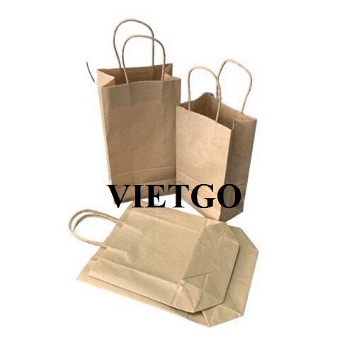 (Gấp) Cơ hội xuất khẩu 100.000 túi giấy hàng tháng sang thị trường Mỹ