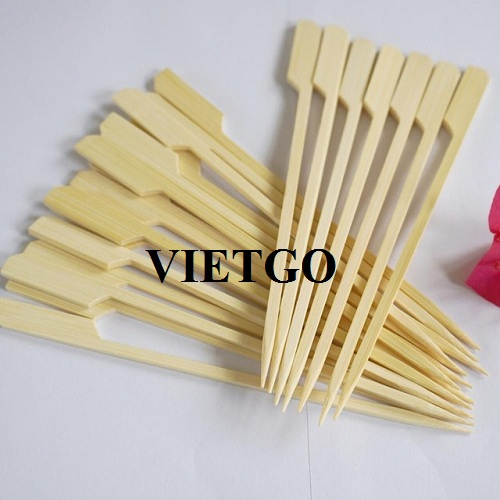 Opportunity to export 01 20-foot container of bamboo skewers to Saudi Arabia