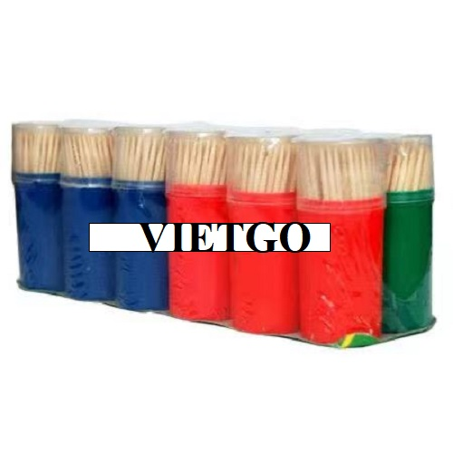Opportunity to export 01 container of 40 feet bamboo toothpicks to Kenya market