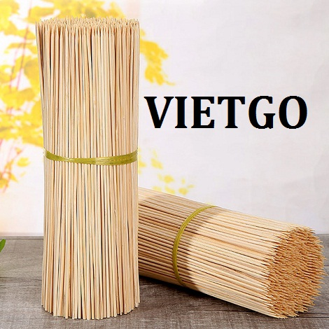 Opportunity to export 240 tons of bamboo sticks per month to the Indian market