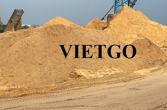 Opportunity to export river sand for a trading company in China