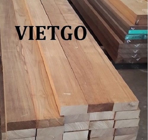 Opportunity to export teak timber to India market