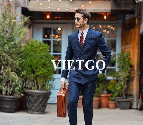 Opportunity to export men vestons monthly for a famous fashion brand in the US