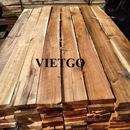 Cơ hội xuất khẩu 10 container 20ft gỗ keo xẻ hàng tháng sang thị trường Ấn Độ