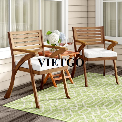 Opportunity to export outdoor wooden tables and chairs  to the Korean market