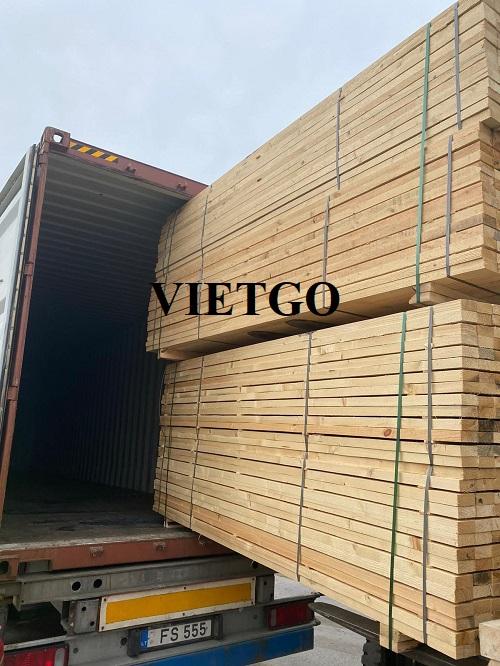 Cơ hội xuất khẩu 2 container 40'HC gỗ thông xẻ sang thị trường Sri Lanka