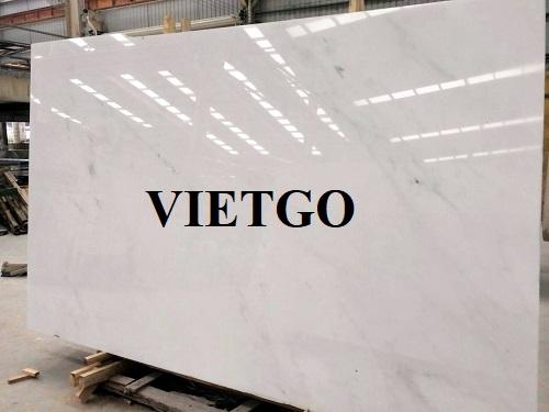 Cơ hội cung cấp 650m² đá Marble trắng hàng tháng cho một công ty thiết kế nội thất tại Ấn Độ