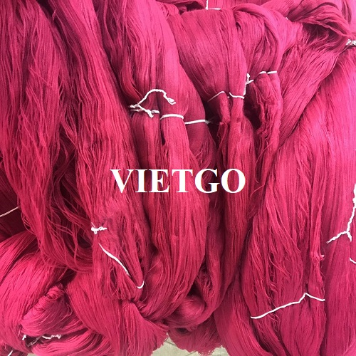 Opportunity to export 10 40ft containers of yarn products to a textile company in China