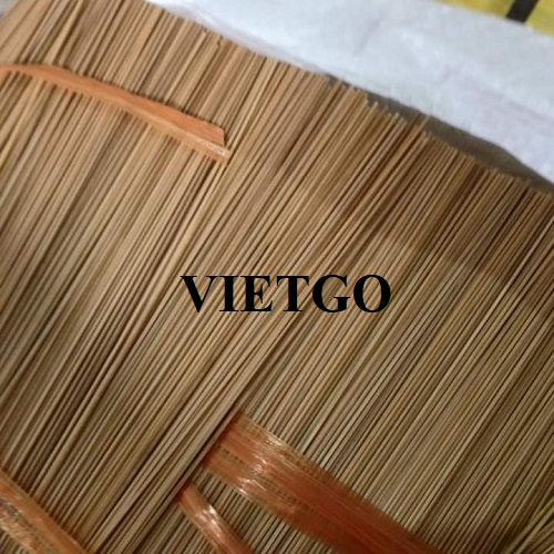 Opportunity to export 19.5 tons of bamboo sticks per month to the Indian market