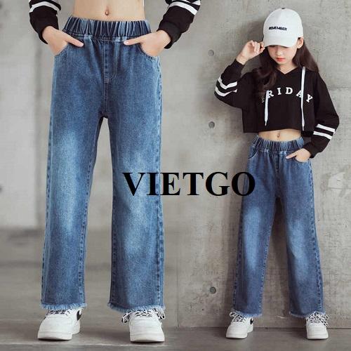 Cơ hội xuất khẩu mặt hàng Jeans cho lứa tuổi 10 - 13 sang thị trường Ấn Độ