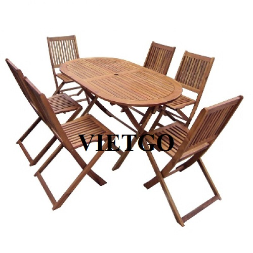 Opportunity to export outdoor wooden tables and chairs to the Australian market