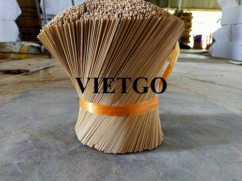 Opportunity to export 5 tons of bamboo stick per month to the Indian market