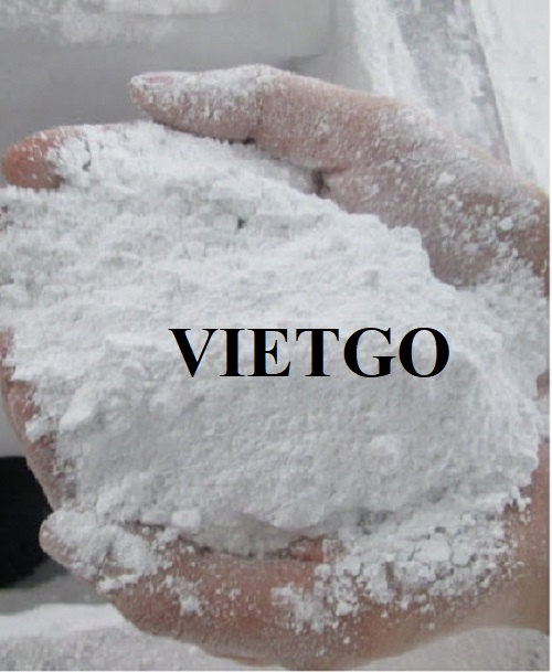 Opportunity to export 100 tons of calcium carbonate per month to the Indian market