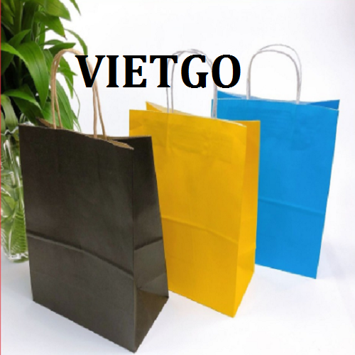Opportunity to export paper bags to the Indian market  