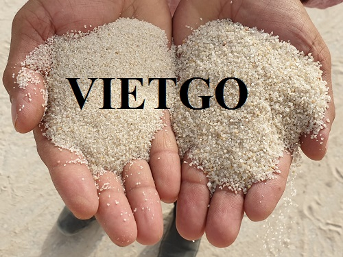 Opportunity to export a large amount of silica sand to the Chinese market