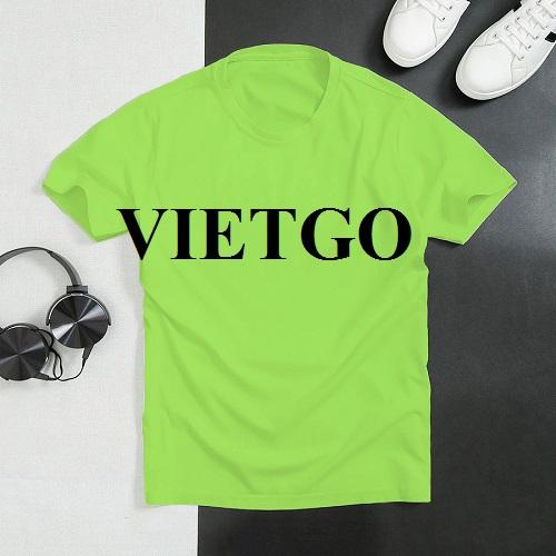 Cơ hội xuất khẩu 300.000 chiếc áo T-shirt cho một công ty chuyên phân phối về hàng dệt may tại Bồ Đào Nha