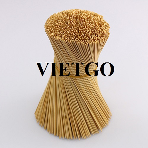 Opportunity to export bamboo sticks for an incense manufacturer in India