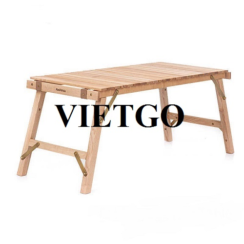 Opportunity to export wooden picnic tables to the South Korean market