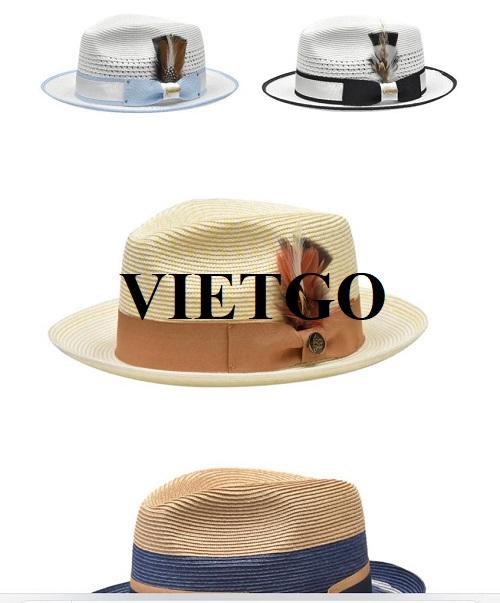 Cơ hội xuất khẩu thường xuyên mặt hàng mũ cho một công ty chuyên kinh doanh trang phục nam tại Mỹ