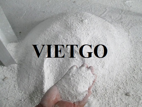 Opportunity to export 2 20ft containers of calcium carbonate per month to India market