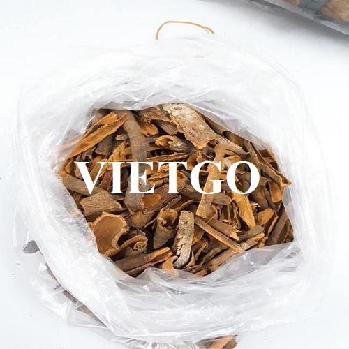 Opportunity to export broken cinnamon to the Indian market