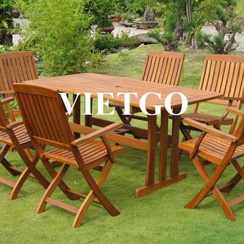 Cơ hội xuất khẩu bàn ghế gỗ ngoài trời sang thị trường Ukraine