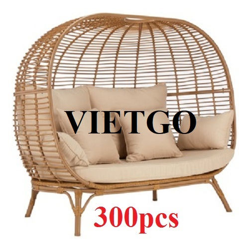 (URGENT) The opportunity to supply 1.000 sets of outdoor rattan furniture per year to a business in Chile