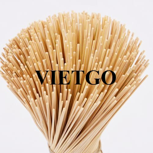 Opportunity to export 20 tons of bamboo sticks per month to the Indian market